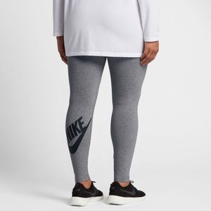 NEW Nike Gray Logo Leggings Plus Size 2X